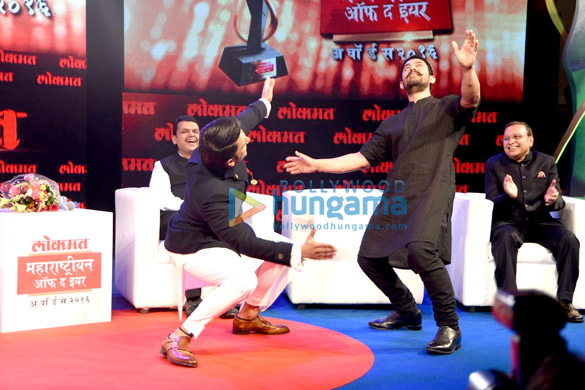 Aamir Khan & Ranveer Singh at Lokmat Maharashtrian of the year award 2016