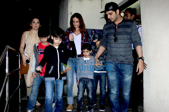 Sussanne Roshan & Zayed Khan snapped with their kids at PVR Juhu