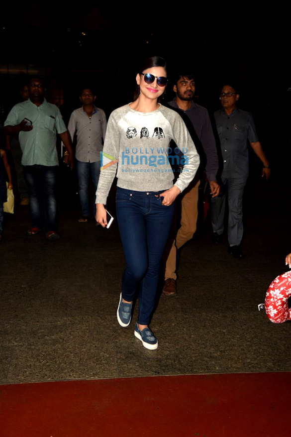 Urvashi Rautela snapped at the domestic the airport