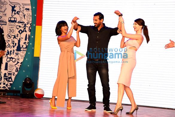Sayani Gupta, John Abraham, Claudia Ciesla