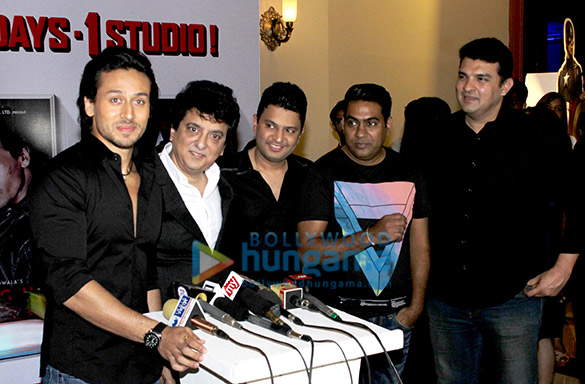 Tiger Shroff, Sajid Nadiadwala, Bhushan Kumar, Sabir Khan, Siddharth Roy Kapur