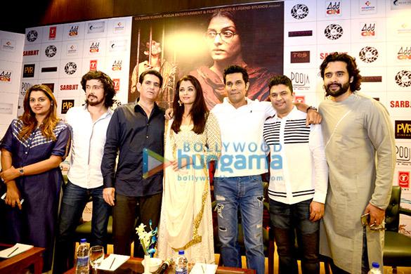 Darshan Kumaar, Omung Kumar, Aishwarya Rai Bachchan, Randeep Hooda, Bhushan Kumar, Jackky Bhagnani