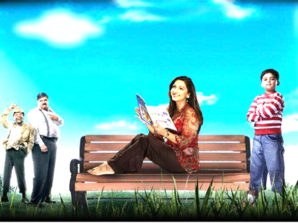 Movie Still From The Film Bhoothnath,Rajpal Yadav,Satish Shah,Juhi Chawla,Aman Siddiqui,Amitabh Bachchan