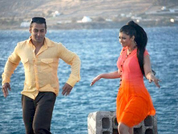 On The Sets Of The Film Wanted (2009) Featuring Salman Khan,Ayesha Takia Azmi
