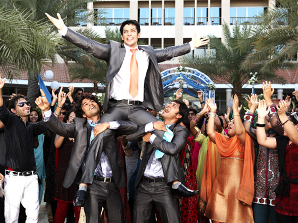 Movie Still From The Film Will You Marry Me?,Rajeev Khandelwal,Muzammil Ibrahim,Shreyas Talpade