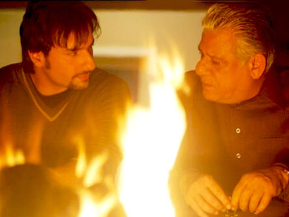 Movie Still From The Film Kurbaan,Saif Ali Khan,Om Puri