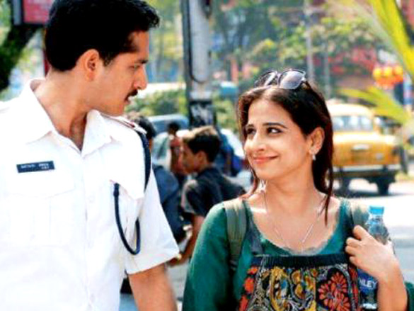 Movie Still From The Film Kahaani,Parambrata Chattopadhyay,Vidya Balan