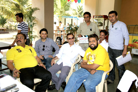 On The Sets Of The Film Qasam Se Qasam Se Featuring Nazim Rizvi,Ashfaque Makrani