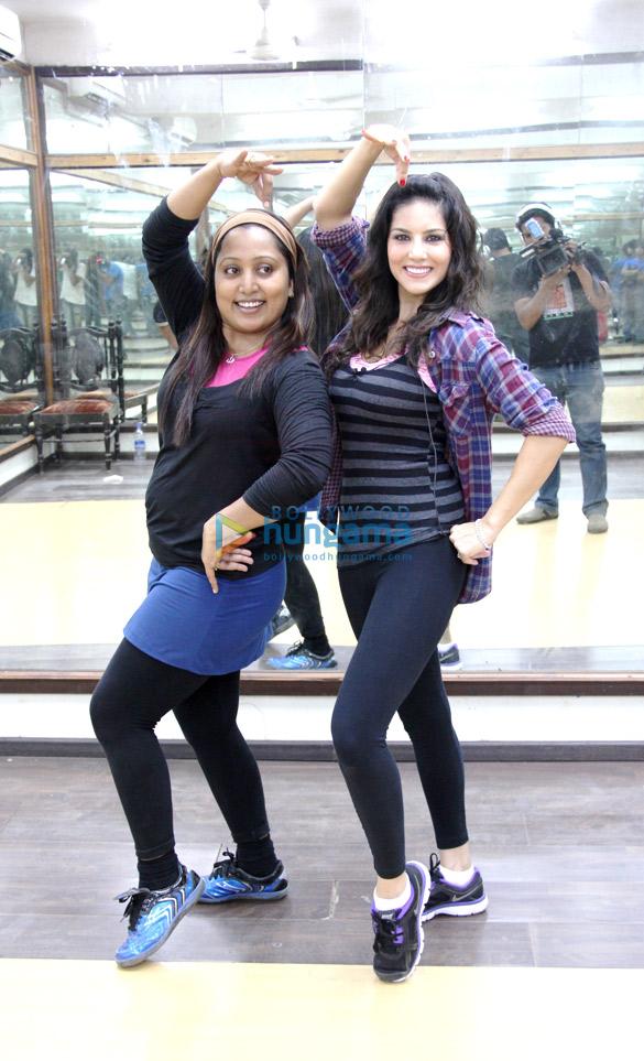 Sunny Leone's dance rehearsal with Shabina Khan