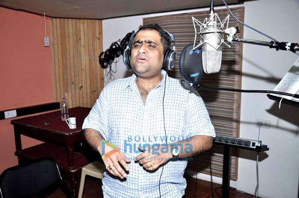 Kunal Ganjawala snapped at a song recording
