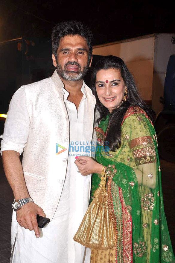 Suniel Shetty snapped at a wedding