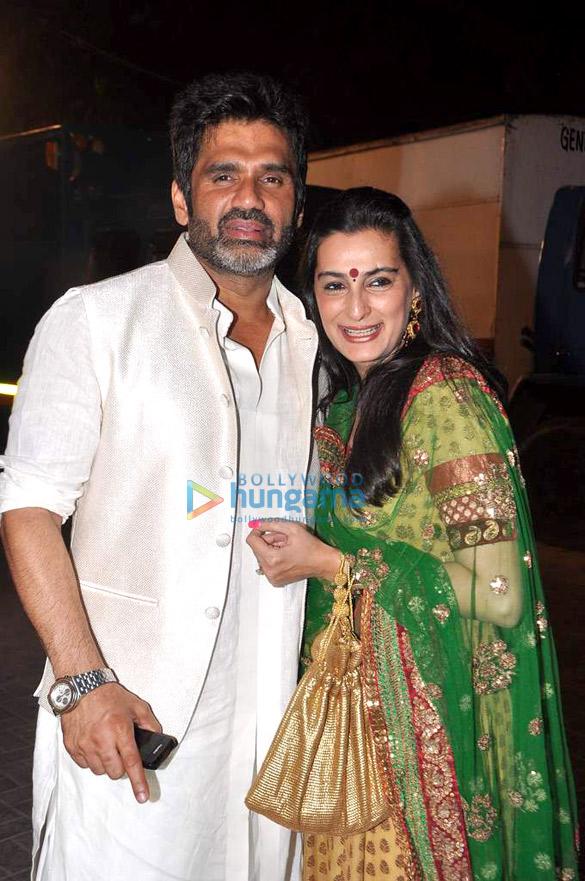 Suniel Shetty snapped at a wedding