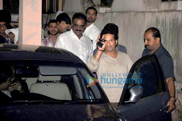 Sachin Tendulkar watches 'Balak Palak' with Riteish & Genelia