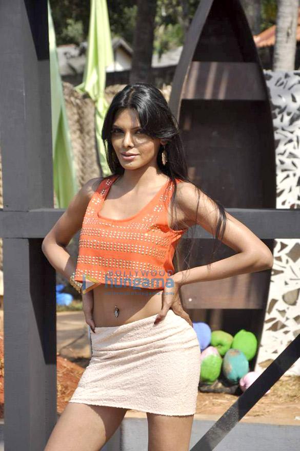Sherlyn Chopra & Nikhil Chinnapa on the sets of MTV Splitsvilla