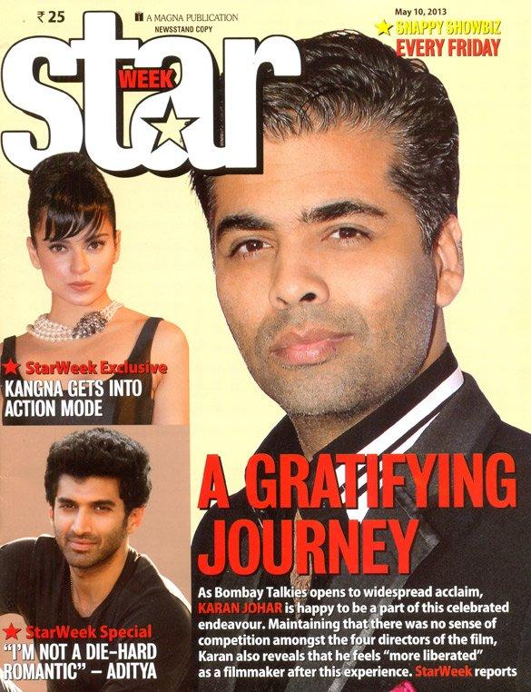 Karan Johar On The Cover Of Star Week,May 2013