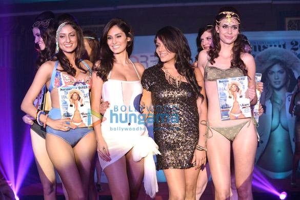 Bruna walks for Sports Illustrated bikini issue launch