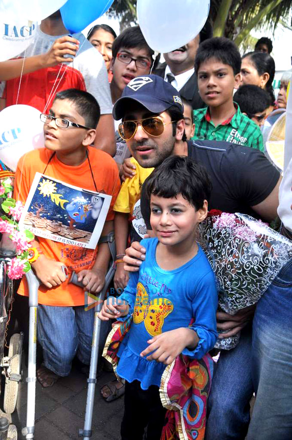 Ayushmann at World Cerebral Palsy Day