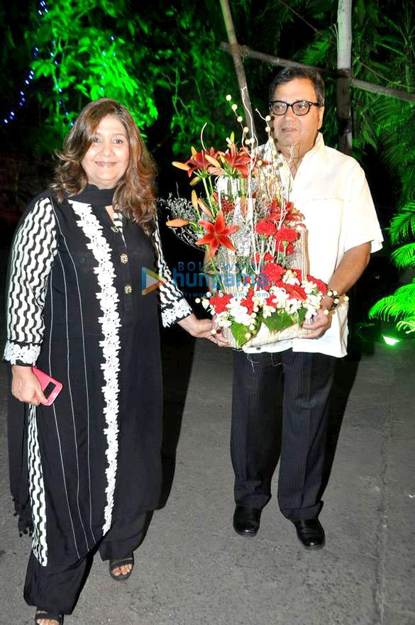 Rani & Dharmendra at Dilip Kumar's birthday celebration