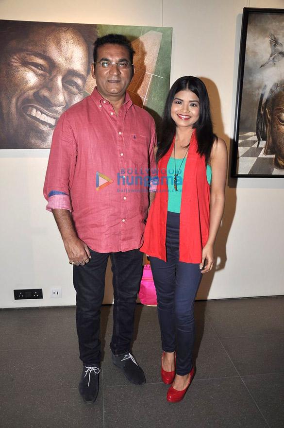 Celebs at Palash Halder's art exhibition