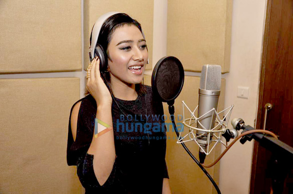 Singer Ann Mitchai at the recording of Thai-Indian fusion album Naach