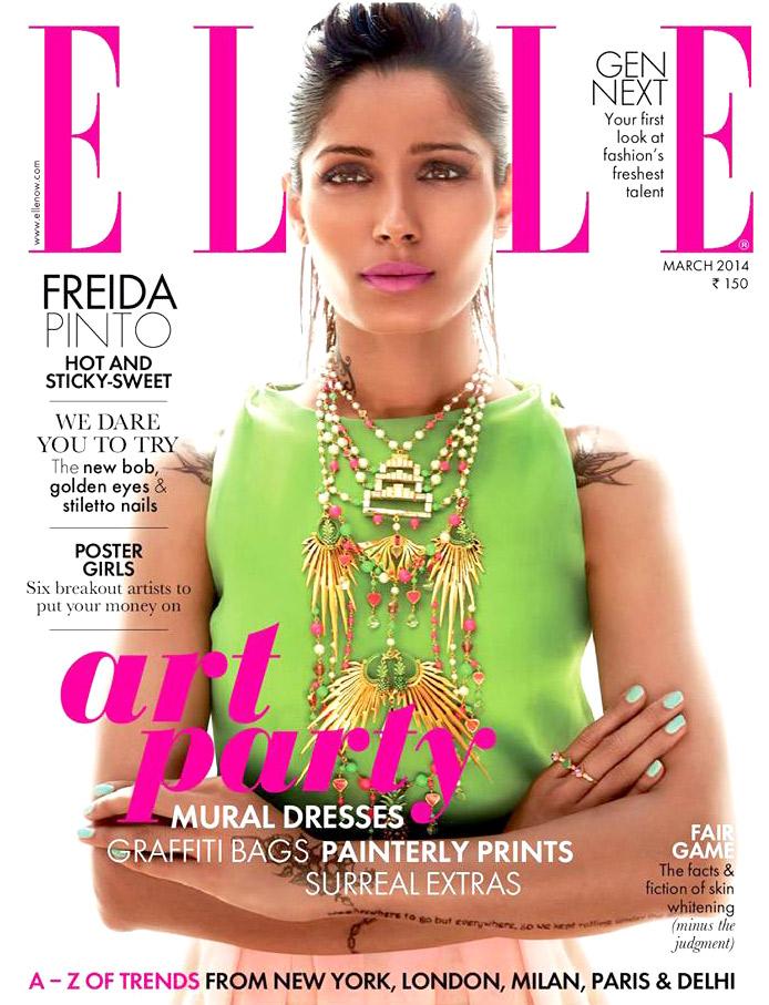Freida Pinto On The Cover Of Elle,Mar 2014