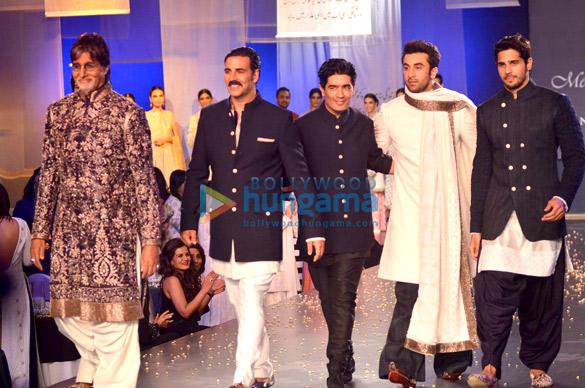 Amitabh, Ranbir, Akshay walk for Manish Malhotra's show 'Men For Mijwan'