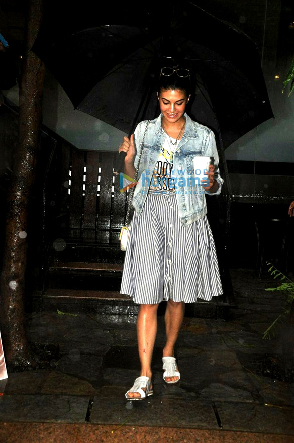 Jacqueline Fernandez snapped at Starbucks