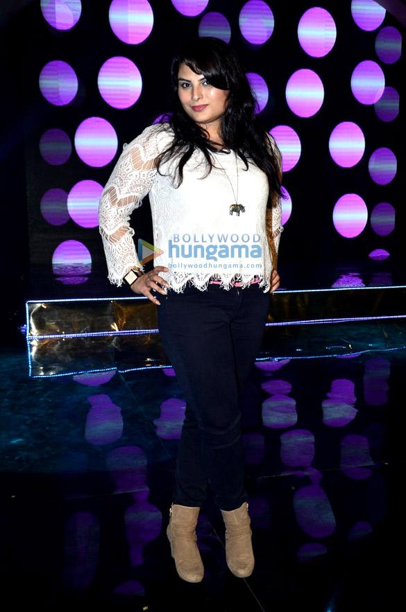 Mughda on the sets of 'Ishq Ne Crazy Kiya Re'