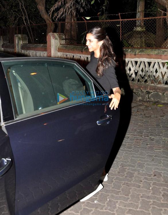 Deepika Padukone snapped at a recording studio