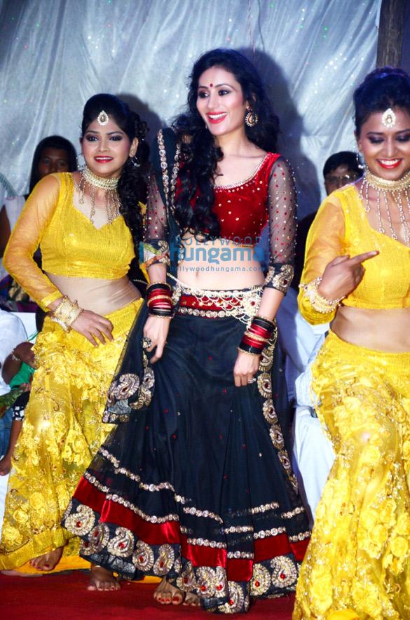 Urvashi performs at a Dahi Handi near Pune