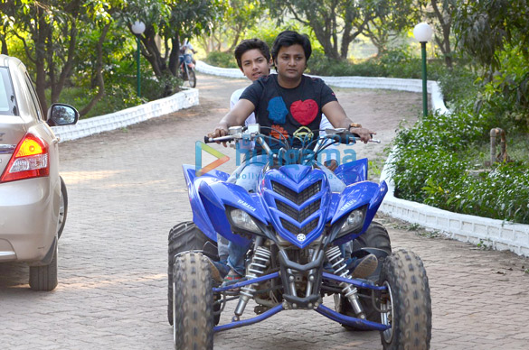 Salman Khan and family snapped enjoying bike rides at his Panvel farm house