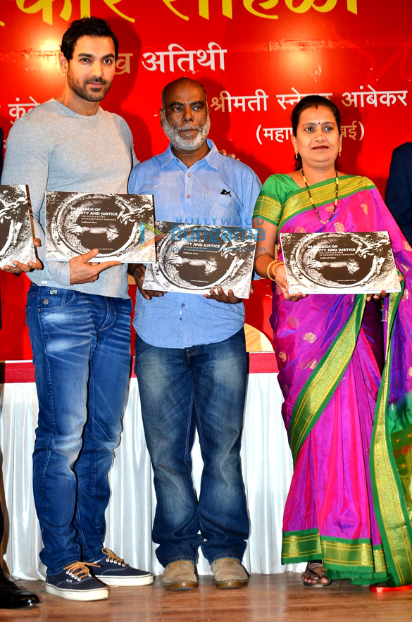 John Abraham at the launch of book 'In Search of Dignity and Justice'