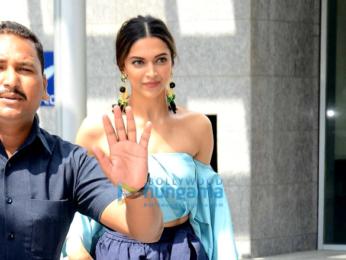 Deepika Padukone snapped at a Sobo Hotel