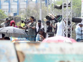 Farhan Akhtar, Arjun Rampal & Purab Kohli shoot a song for Rock On!! 2