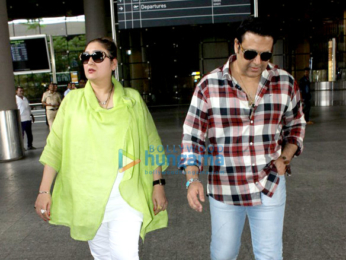 Govinda & Brendan Fraser snapped at the Mumbai airport