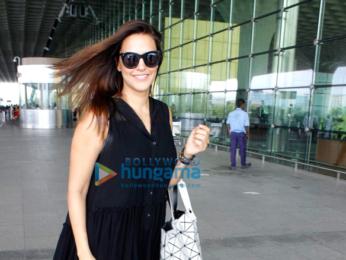 Neha Dhupia snapped at the domestic terminal