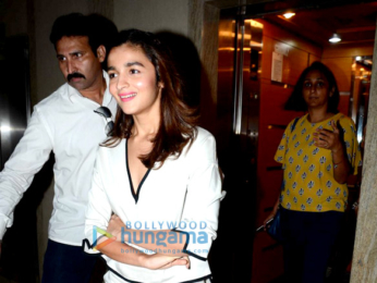 Shahid Kapoor, Alia Bhatt & Diljit Dosanjh snapped at 'Udta Punjab' show for media