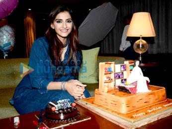 Sonam Kapoor celebrates her birthday with the media