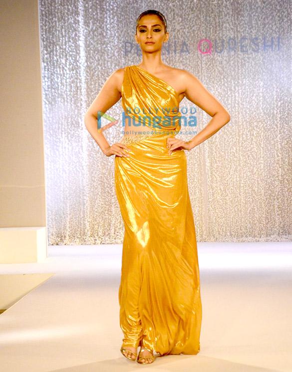 Sonam Kapoor walks the ramp for Pernia Qureshi's fashion show on her birthday