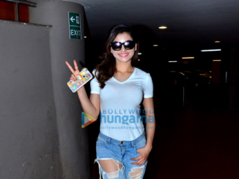 Urvashi Rautela spotted at the airport while returning from Delhi