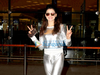 Urvashi Rautela spotted at the Chhatrapati Shivaji International Airport