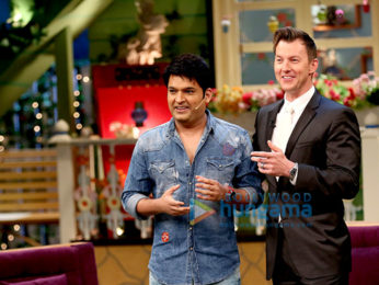 Brett Lee promotes his film on the sets of The Kapil Sharma Show