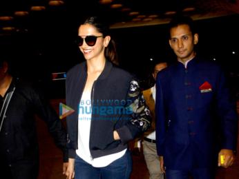 Deepika Padukone snapped at the international airport