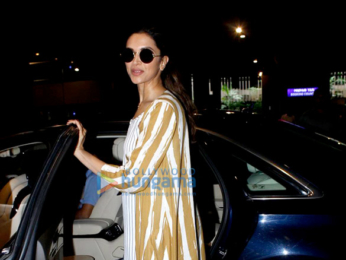 Deepika Padukone returns from Delhi
