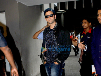 Hrithik Roshan snapped at the international airport