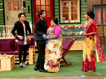 Irrfan Khan & Jimmy Sheirgill on the sets of The Kapil Sharma Show