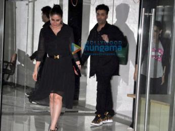 Kareena Kapoor Khan, Karisma Kapoor & Karan Johar snapped post dinner at Sanjay Kapoor's house