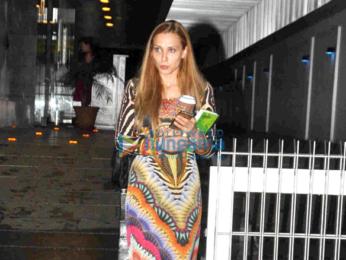 Lulia Vantur snapped post dinner at Hakkasan