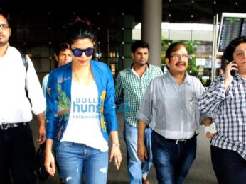Priyanka Chopra and Sonam Kapoor snapped at the international airport