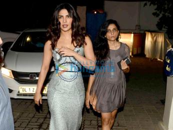 Priyanka Chopra snapped at Olive, Delhi